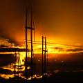 Fiery Sunset by Michael DeBlanc
