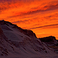 Fiery Sunset Over The Dunes by Charles Harden