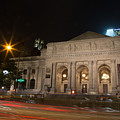 Fifth Avenue And Library by John Dryzga