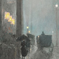 Fifth Avenue, Evening by Childe Hassam