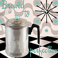 Fifties Kitchen Coffee Pot Perk Coffee by Mindy Sommers