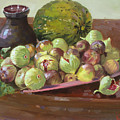 Figs And Cantaloupe by Ylli Haruni