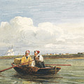 Figures In A Boat On The Thames, Gravesend by Celestial Images
