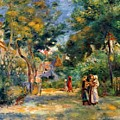 Figures In A Garden by Renoir PierreAuguste