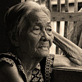 Filipino Lola Image Number 33 In Black And White Sepia by James BO Insogna