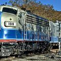 Fillmore And Western Railway Christmas Train 3 by Michael Gordon