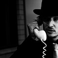 Film Noir Detective On Telephone by Jorgo Photography - Wall Art Gallery