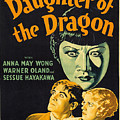 Film Poster For Daughter Of The Dragon by Celestial Images