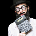 Financial And Accounting Genius With Calculator by Jorgo Photography - Wall Art Gallery