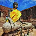 Finding, Not Seeking At Wat Worachetha Ram In Ayutthaya, Thailand by Sam Antonio Photography