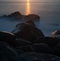 Fine Art- Sunset Rocks by Jenny Potter