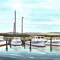 Fine Art Workboats Kent Island Chesapeak Maryland Original Oil Painting by G Linsenmayer