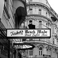 Fine English Shoes Sign Black And White by Sharon Popek