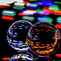 Finger Light Painted Glass Ball Abstract by Sven Brogren