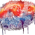 Finger Print Map Of The World by Sassan Filsoof