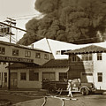 Fire At Cannery Row, Custom House Packing Company Sea Beach Cannery 1953 by California Views Archives Mr Pat Hathaway Archives