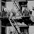 Fire Escape With Clothes Hung To Dry by Jim Corwin
