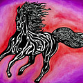 Fire Horse Burn 4 by Peter Paul Lividini