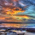 Fire In The Sky North Shore Sunset Oahu Hawaii Art by Reid Callaway