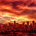 Fire In The Sky Over Denver by Teri Virbickis