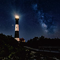 Fire Island Lighthouse And The Milkyway by Alissa Beth Photography