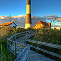 Fire Island Lighthouse Before Sunset by Jim Dohms
