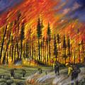 Fire Line 1 by Ricardo Chavez-Mendez