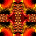 Fire Purifying Gold Fractal Abstract by Rose Santuci-Sofranko