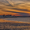 Fire Sky Over Quincy Bay by Brian MacLean