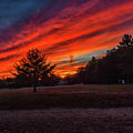Fire Sky Sunset At Houghtons Pond by Brian MacLean