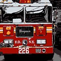 Fire Truck Color 6 by Scott Kelley