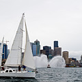 Fireboat Sail By by Tom Dowd