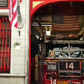 Firefighters Of New York - Engine Sweet 14 - Closeup by Miriam Danar