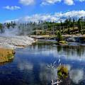 Firehole River Yellowstone by Marilyn Burton
