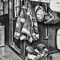 Fireman - Always Ready - Black And White by Paul Ward