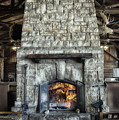 Fireplace At The Lodge Vertical by Thomas Woolworth