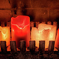 Fireplace Candles by Jim Hughes