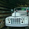 Firetruck In A Barn by Douglas Barnett