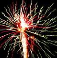 Firework Pink And Green Streaks by Adrienne Wilson