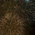 Fireworks 4 With Moon by Jouko Lehto