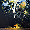 Fireworks Bonfire On The West Bar by Charles Harden