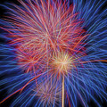 Fireworks Celebration Glow Square by Terry DeLuco