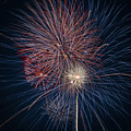 Fireworks Celebration Red White Blue by Terry DeLuco