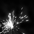 Fireworks In Black And White 1 by Kelly Hazel