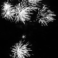 Fireworks In Black And White 3 by Kelly Hazel