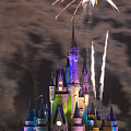 Fireworks Over Disney Castle by Carl Purcell