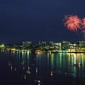 Fireworks Over Halifax Harbor Celebrate by James P. Blair