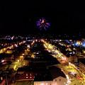 Fireworks Over Hudson by Jonathan Simons