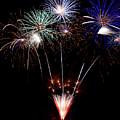 Fireworks Over Lake #14 by Karen Eubank