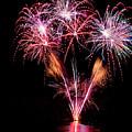 Fireworks Over Lake #15 by Karen Eubank